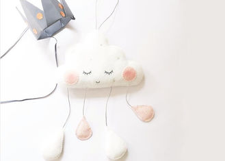 3 Colors Felt Fabric Crafts Cloud Raindrop Pendant Photo Prop Hanging Decoration