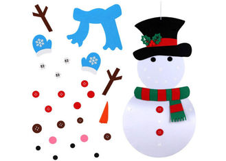 Wall Hanging Xmas Gifts DIY Snowman Felt Christmas Decorations With 31pcs Ornaments